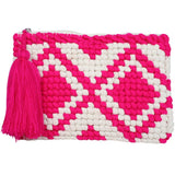 Katydid Pocketbook /Clutch Purse - Pink/White - Katydid.com