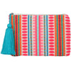 Katydid Pocketbook /Clutch Purse - Pink Stripes/Oval - Katydid.com