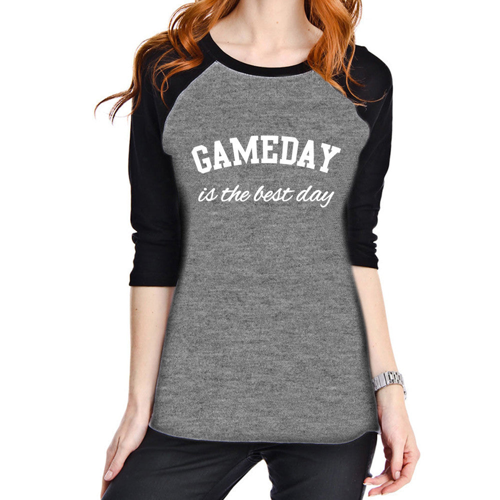 Gameday Is The Best Day Raglan T-Shirt - Katydid.com