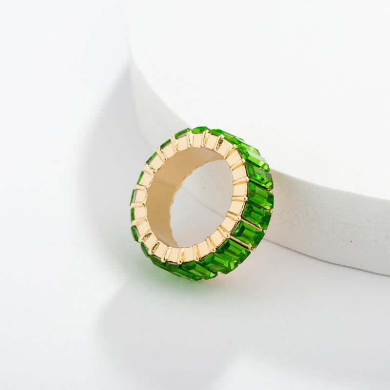 Katydid Green Glass Rings - Katydid.com