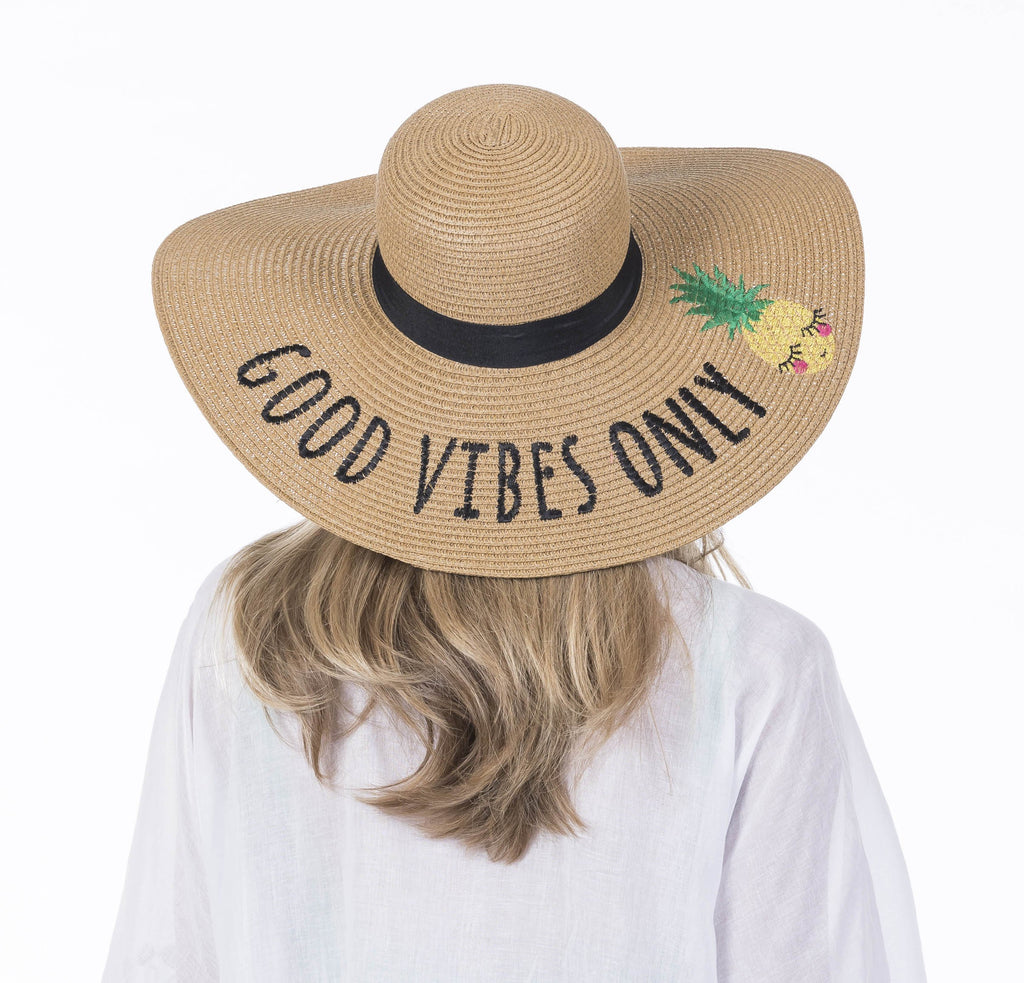 Katydid Good Vibes Only Sun Hats for Women - Katydid.com