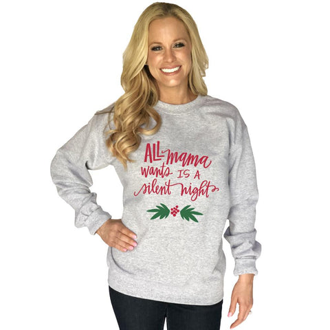 Katydid O Deer Christmas Is Here Women's Sweatshirt
