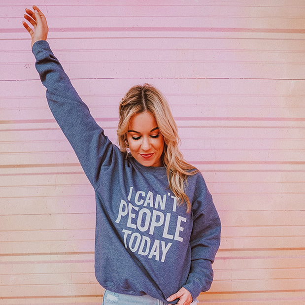 Katydid I Can't People Today Women's Sweatshirt