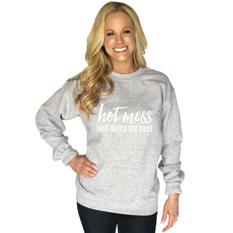 Hot Mess Blessed and Christmas Obsessed Long Sleeve T-Shirt