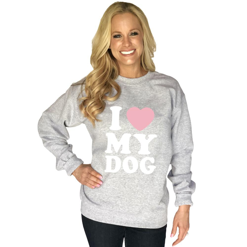 Katydid I Love My Dog Women's Sweatshirt - Katydid.com