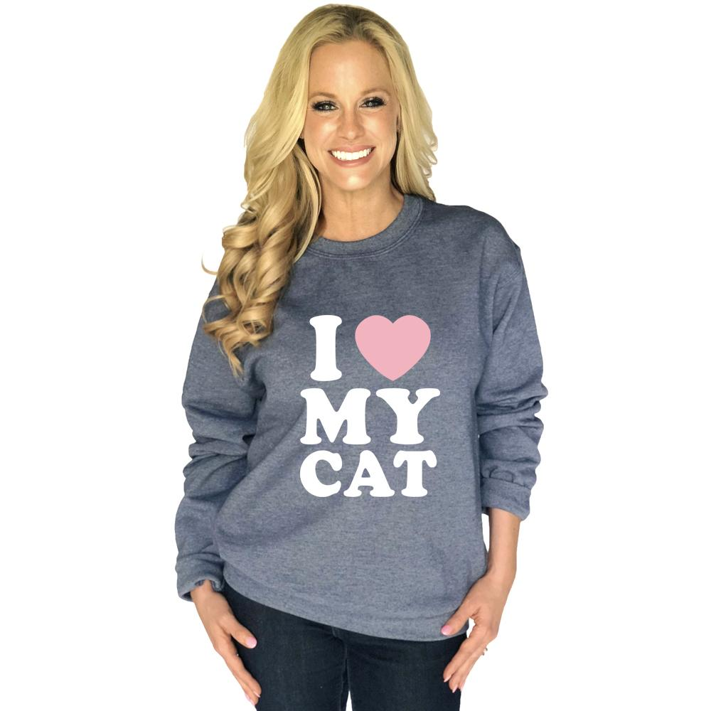 Katydid I Love My Cat Women's Sweatshirt - Katydid.com