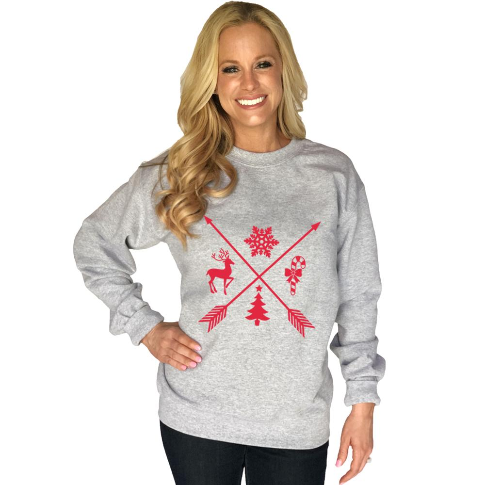 Katydid Christmas Arrows Women's Sweatshirt - Katydid.com