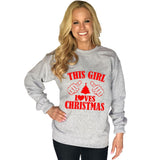 Katydid This Girl Loves Christmas Women's Sweatshirt - Katydid.com