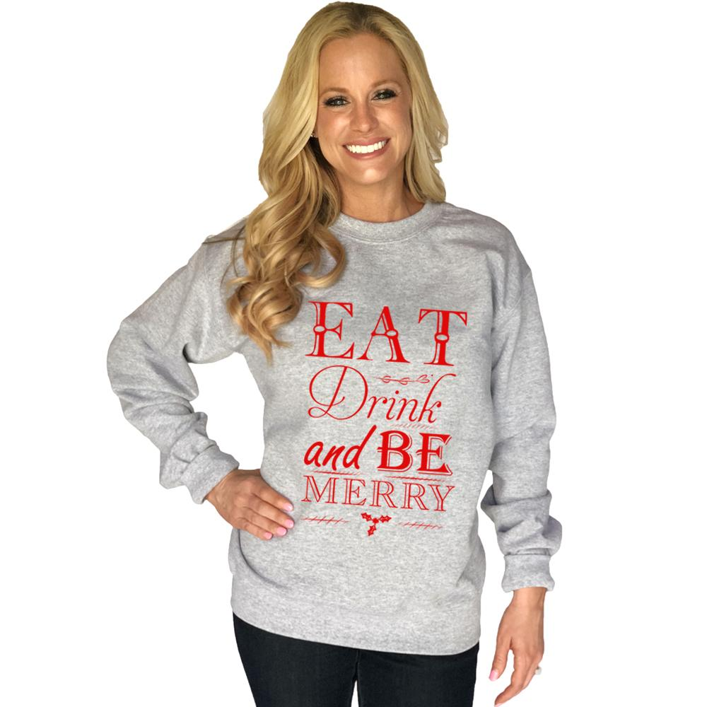 Katydid Eat Drink And Be Merry Women's Sweatshirt - Katydid.com