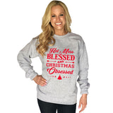 Katydid Hot Mess Blessed And Christmas Obsessed Women's Sweatshirt - Katydid.com