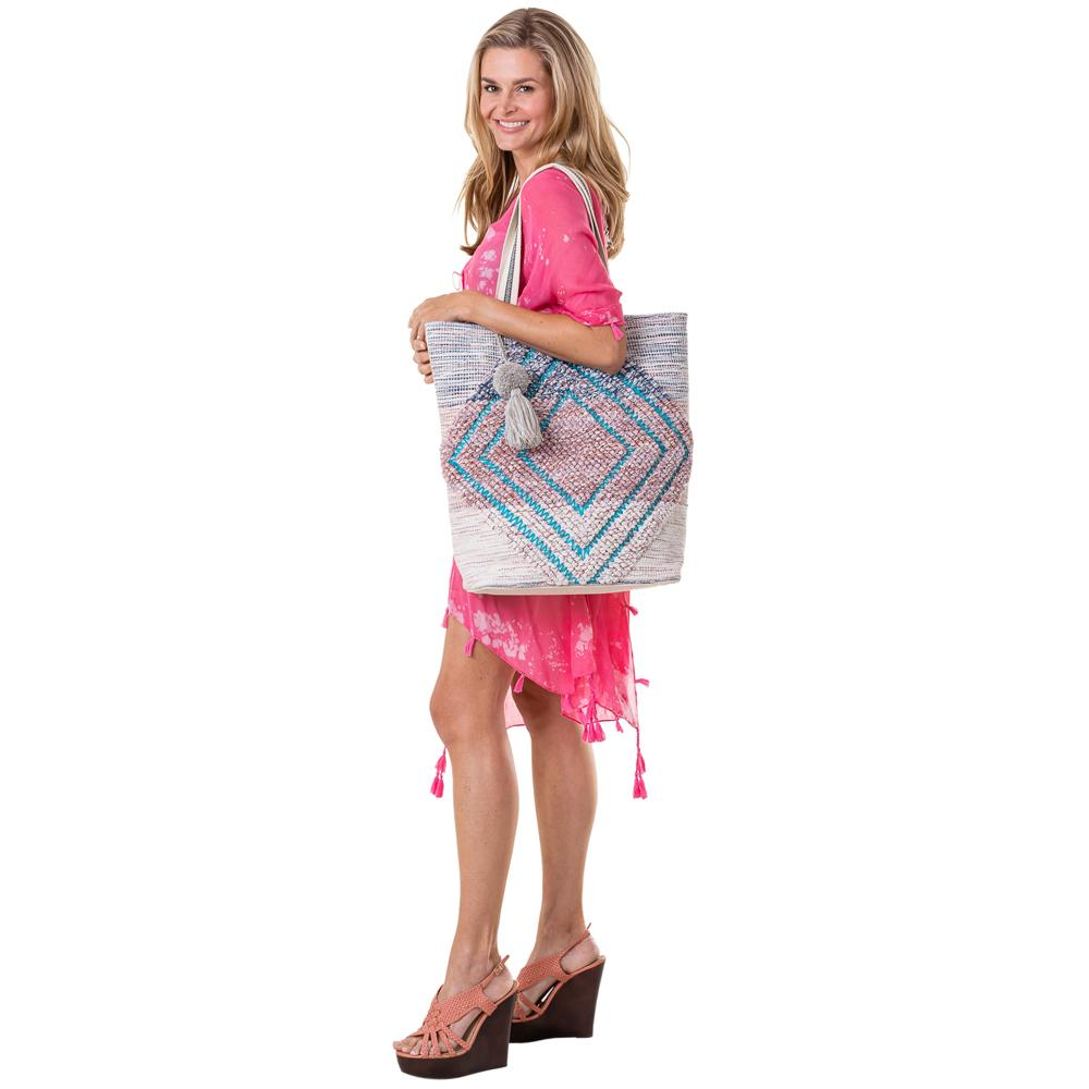 Katydid Diamond Pattern Handbags or Beach Bag