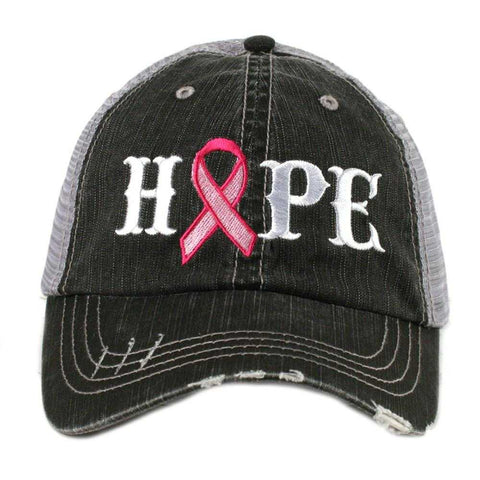 Love Pink Ribbon Trucker Hat