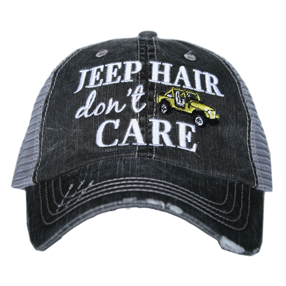Jeep Hair Don't Care Trucker Hat - Katydid.com