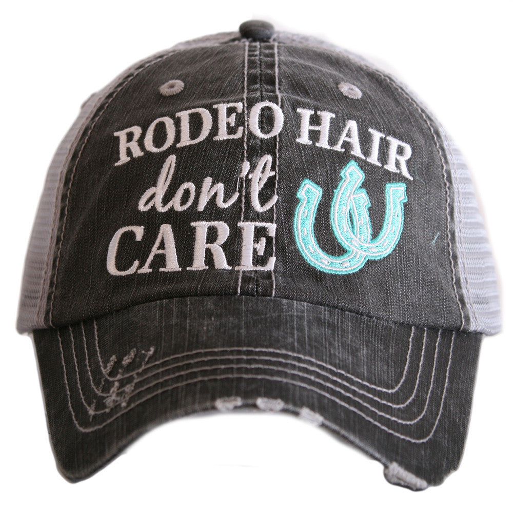 Rodeo Hair Don't Care Trucker Hats