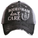 Rodeo Hair Don't Care Trucker Hats - Katydid.com