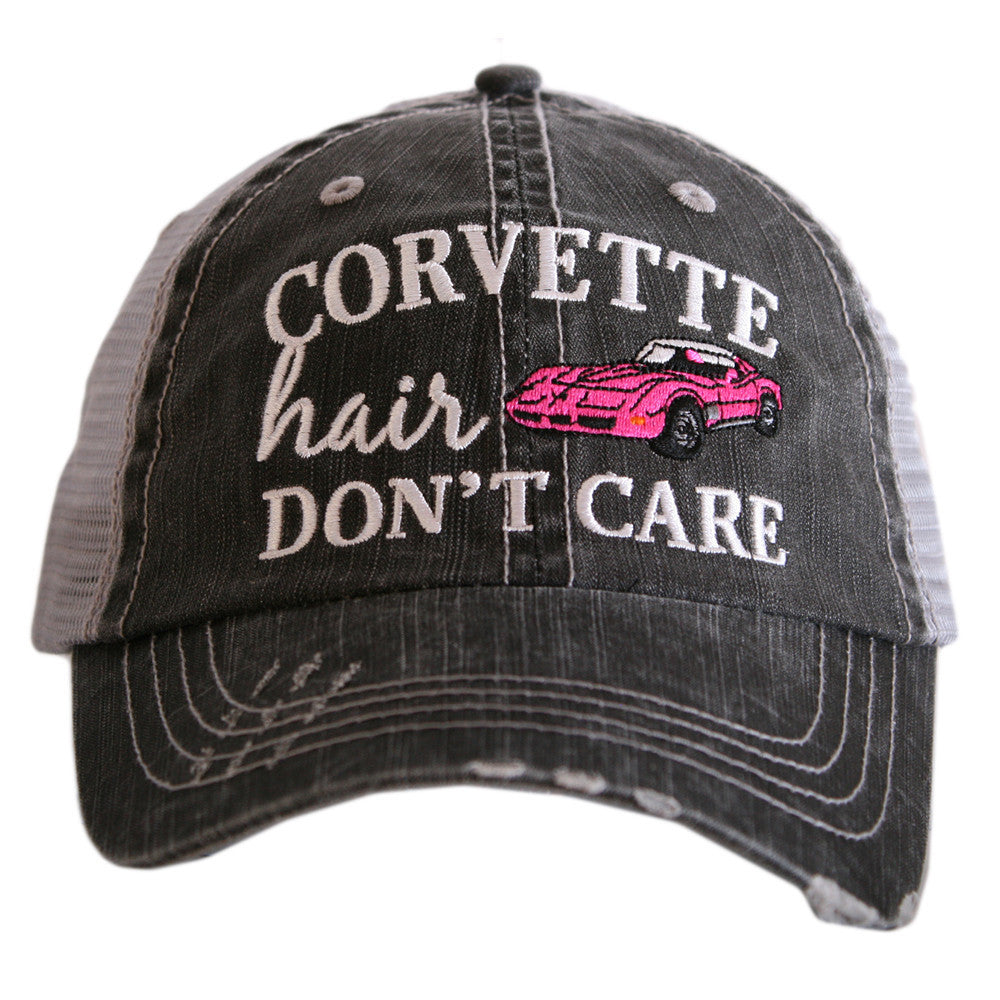 Corvette Hair Don't Care Trucker Hat - Katydid.com