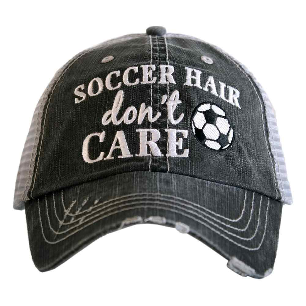 SOCCER HAIR DON'T CARE TRUCKER HAT