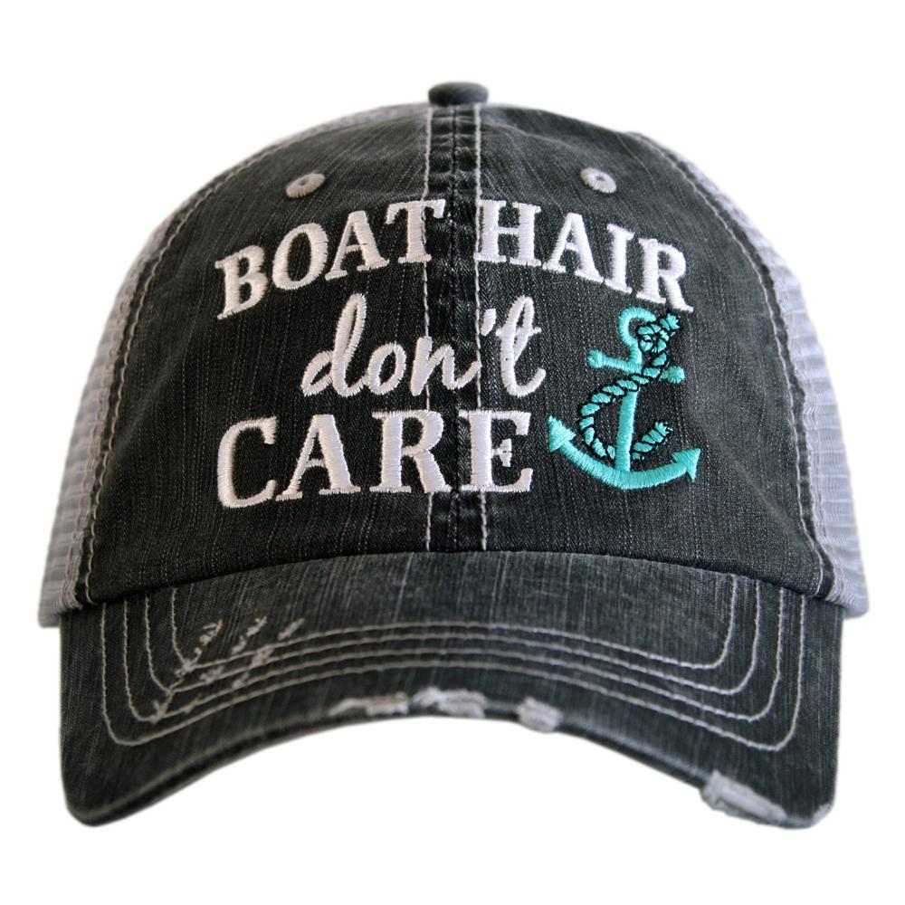 Boat Hair Don't Care Women's Trucker Hat - Katydid.com