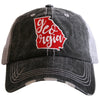 Georgia State Patch Trucker Hat - Katydid.com