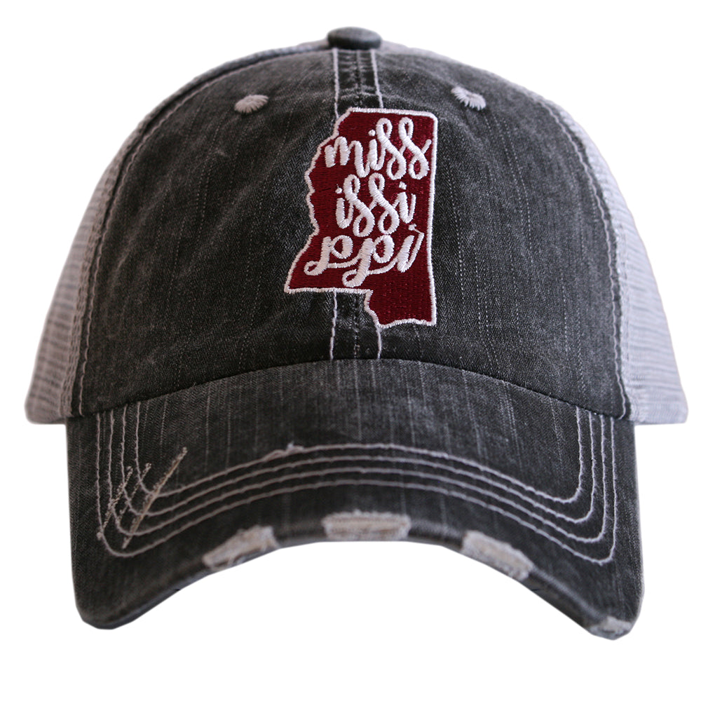 Mississippi State Patch Trucker Hat - Katydid.com