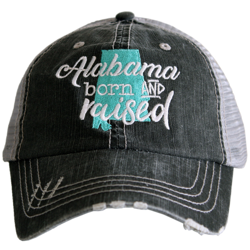"Alabama ""Born & Raised"" Trucker Hat - Katydid.com"