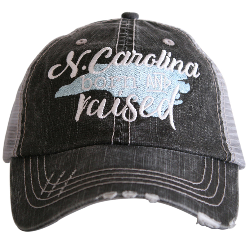 "North Carolina ""Born & Raised"" Trucker Hat - Katydid.com"