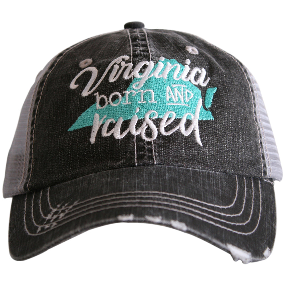 "Virginia ""Born & Raised"" Trucker Hat"