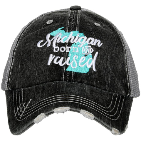 Katydid Kentucky Pastel Plaid Trucker Hats