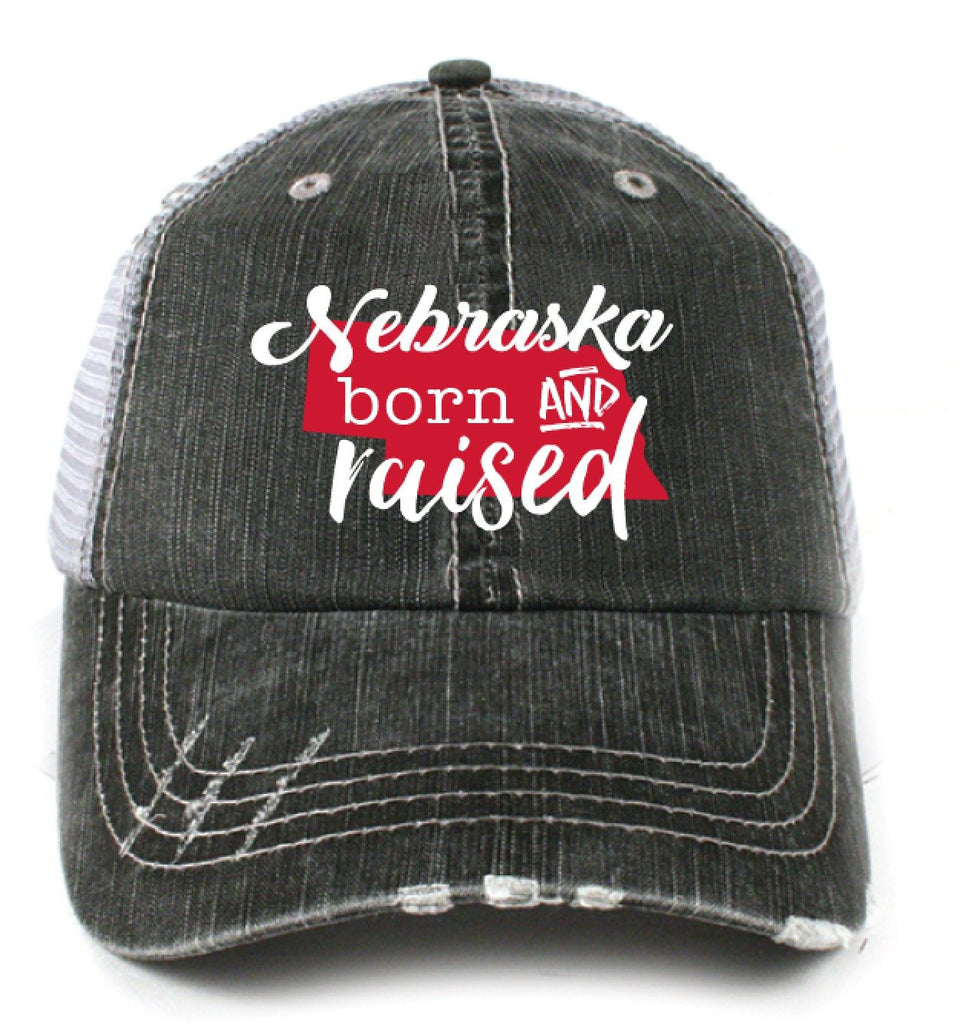 Katydid Nebraska Born and Raised Trucker Hats - Katydid.com
