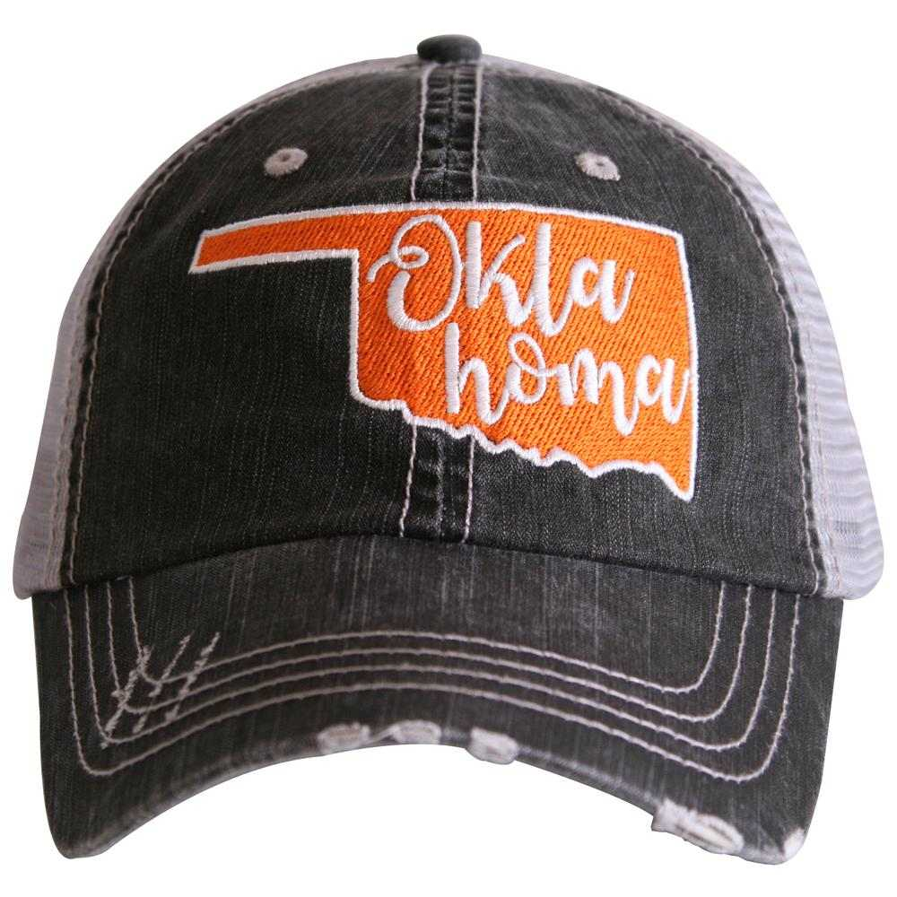 Oklahoma State CUT OUT Trucker Hat - Katydid.com