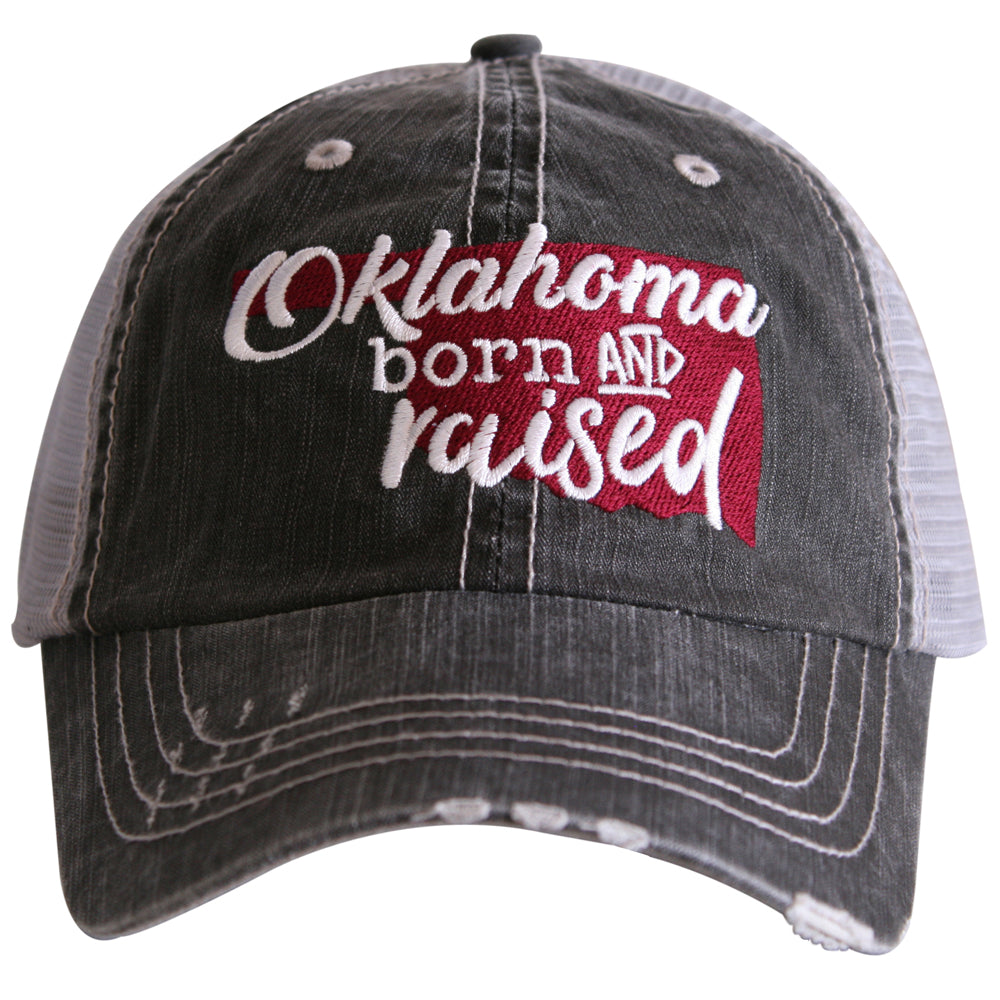 "Oklahoma ""Born & Raised"" Trucker Hat - Katydid.com"