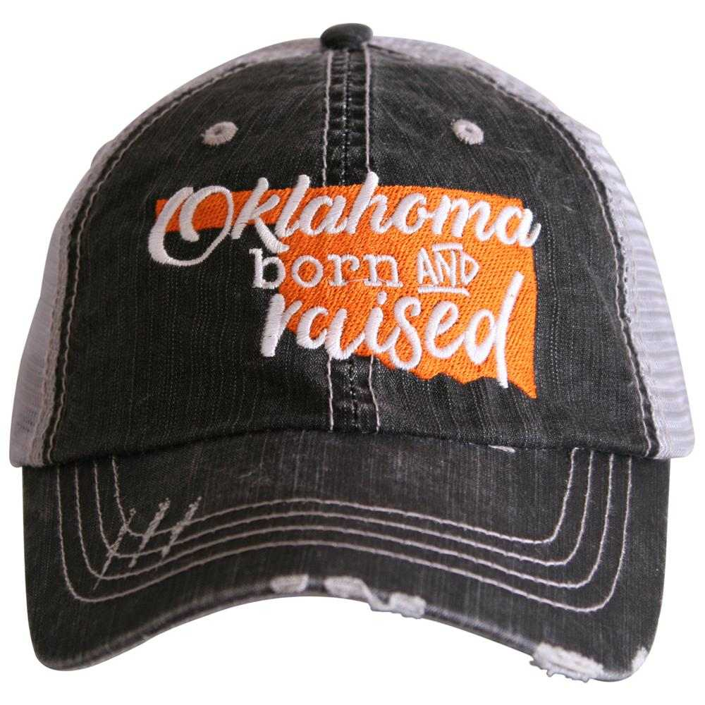 "Oklahoma ""Born & Raised"" Trucker Hat"