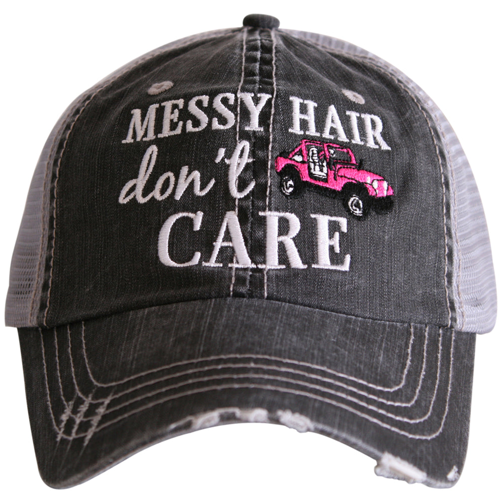 Messy Hair Don't Care (JEEP) Trucker Hat - Katydid.com