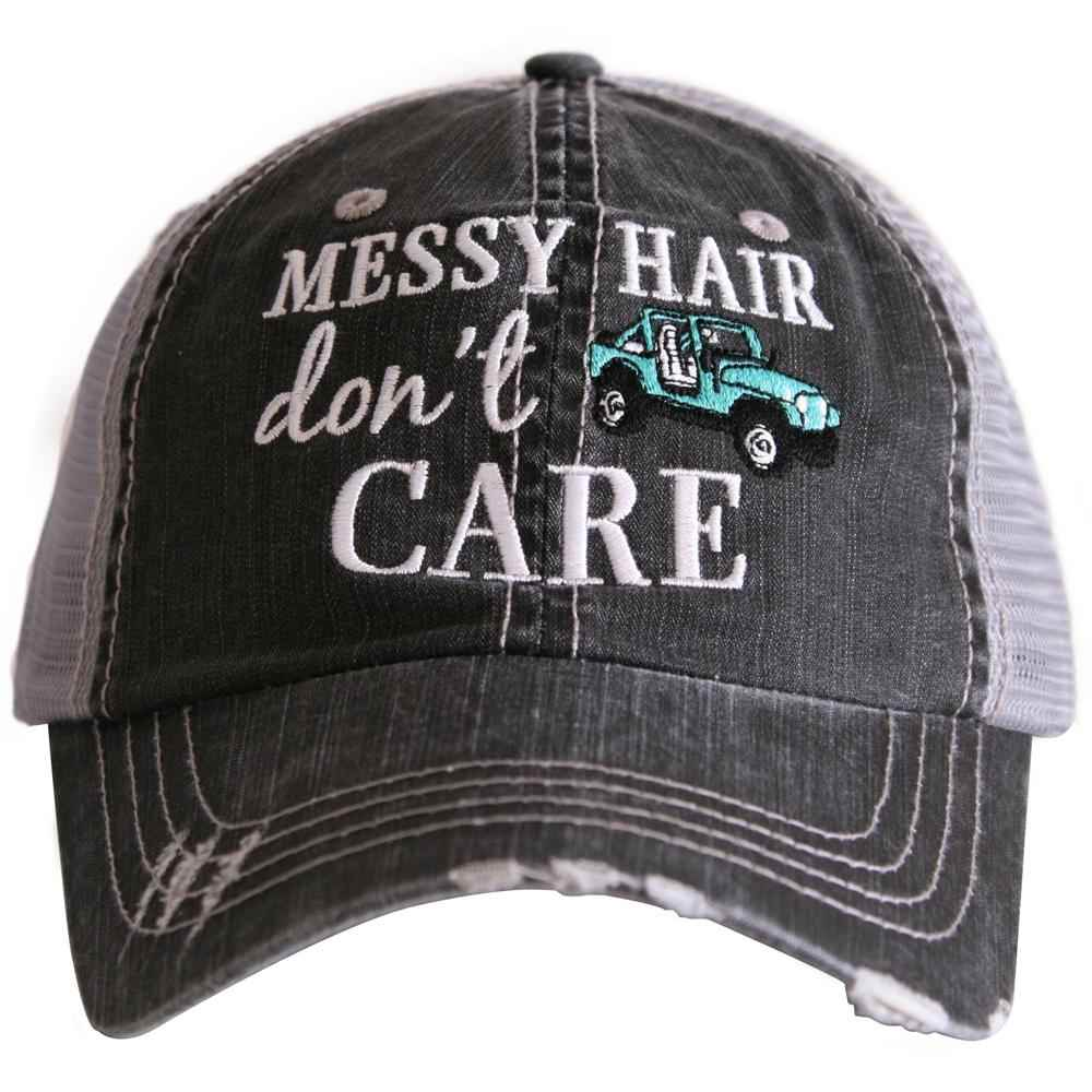 MESSY HAIR DON'T CARE WOMEN'S TRUCKER HAT