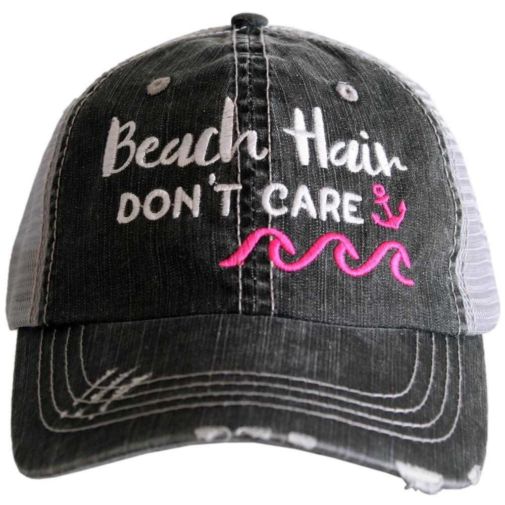 Beach Hair Don't Care WAVES/ANCHOR Trucker Hat - Katydid.com