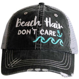 Beach Hair Don't Care WAVES/ANCHOR Trucker Hat