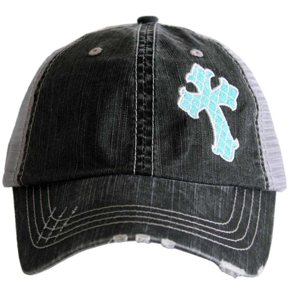 Moroccan Cross Side Panel Trucker Hat - Katydid.com
