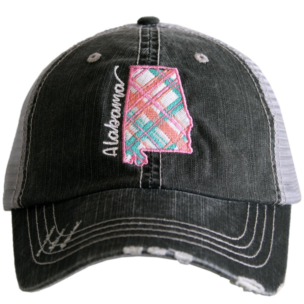 Katydid Alabama Pastel Plaid Trucker Hats - Katydid.com
