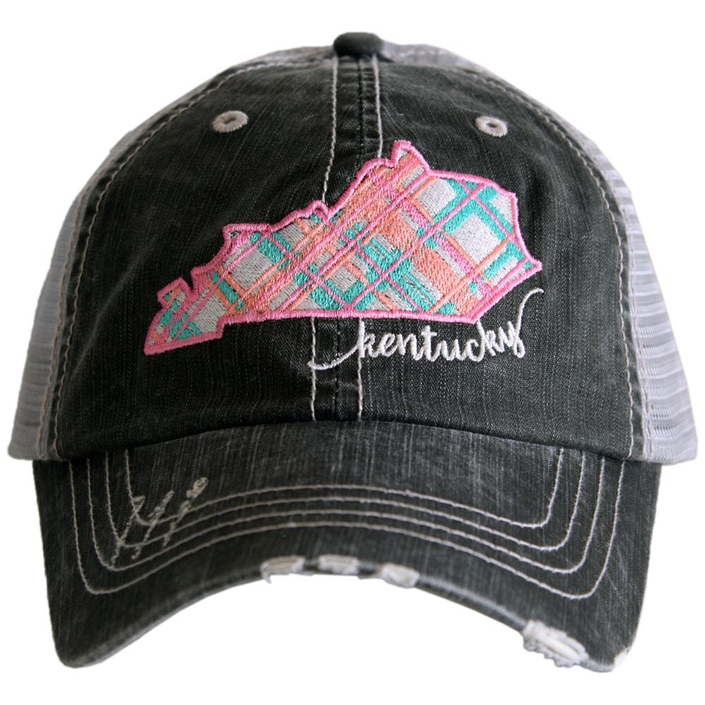 Katydid Kentucky Pastel Plaid Trucker Hats - Katydid.com