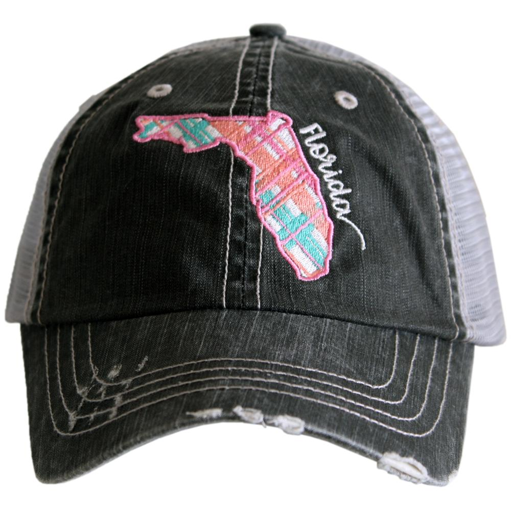 Katydid Florida Pastel Plaid Trucker Hats - Katydid.com