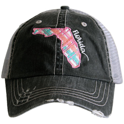 Katydid North Carolina Pastel Plaid Trucker Hats