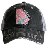 Katydid Georgia Pastel Plaid Trucker Hats - Katydid.com