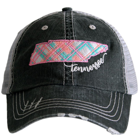 Katydid Florida Pastel Plaid Trucker Hats
