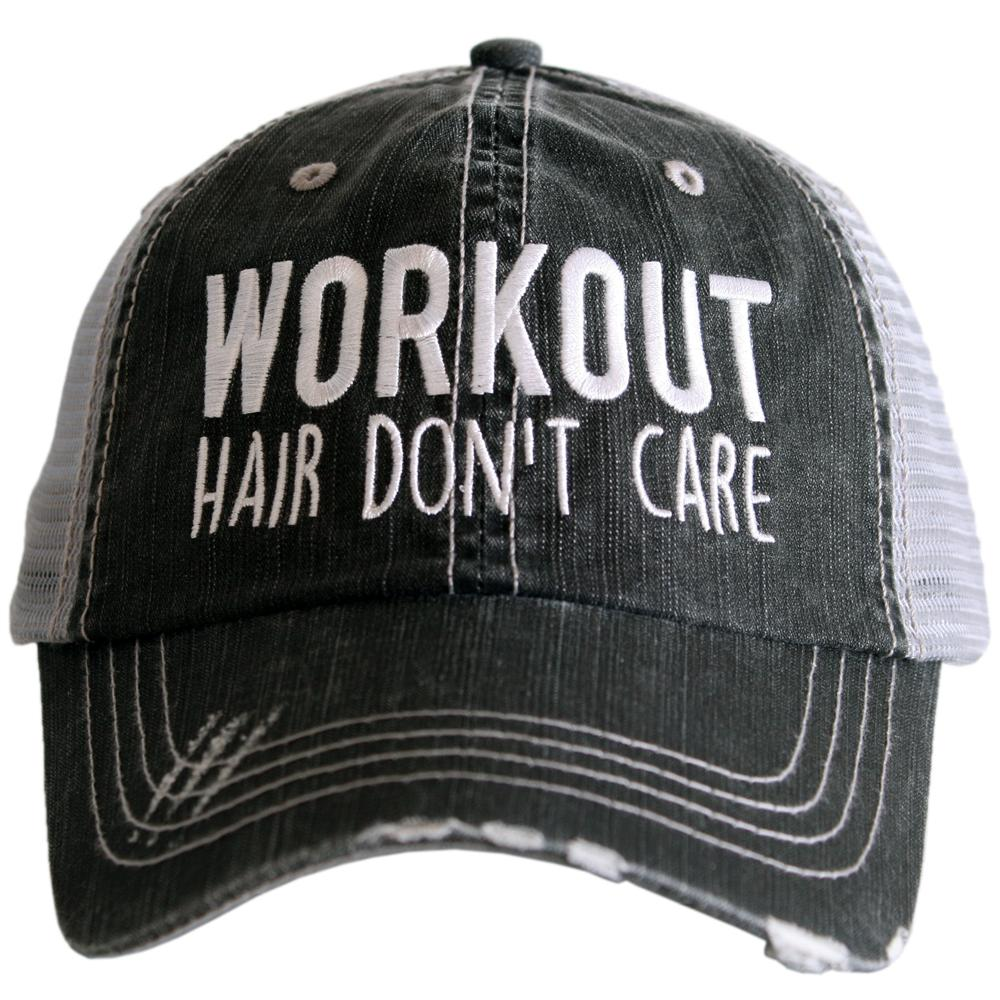 Workout Hair Don't Care Trucker Hat - Katydid.com