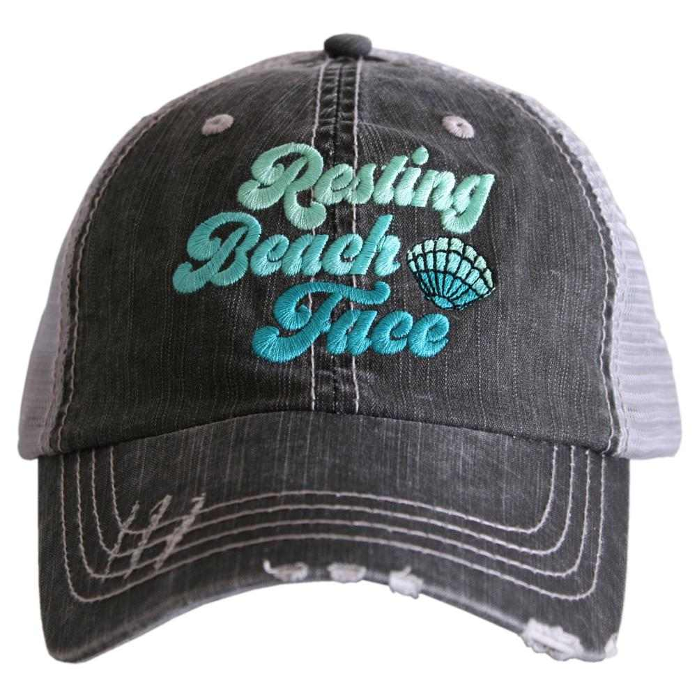 Resting Beach Face Trucker Hat - Katydid.com
