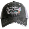 Katydid Ice Cream Is Cheaper Than Therapy Trucker Hats - Katydid.com