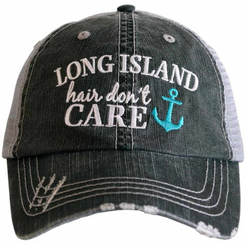 Lake Hair Don't Care WAVES/ANCHOR Trucker Hat