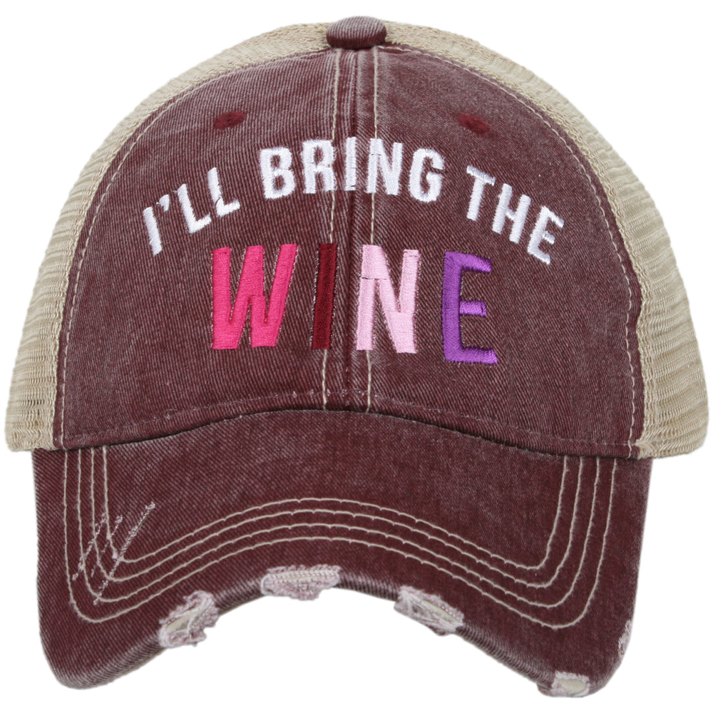 Katydid I'll Bring The Wine Trucker Hat Trucker Hats - Katydid.com