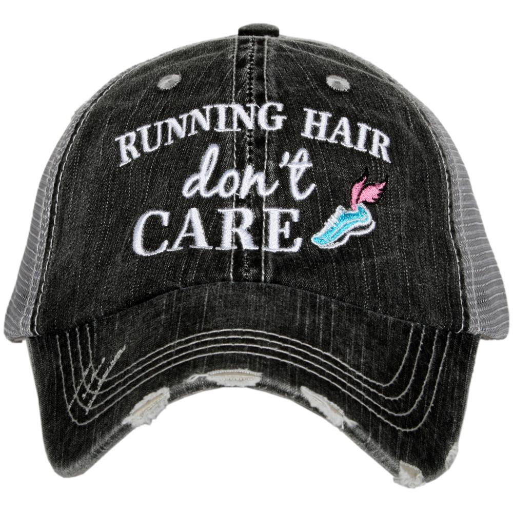 Katydid Running Hair Don't Care Trucker Hats - Katydid.com