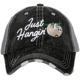 Katydid Just Hangin' Sloth Trucker Hats - Katydid.com